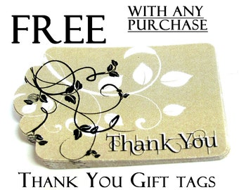 FREE  Please read description, Thank You Gift Tags with any purchase, Set of 9, code 3030-06