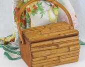Vintage Bamboo Handbag Box Purse - alleycatsvintage
