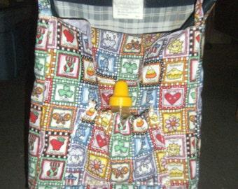 Umbrella Stroller Bag - Diaper Bag - Tote Bag - Stroller Tote Bag - Umbrella Stroller Tote Bag - Colorful Take Along Tote Bag