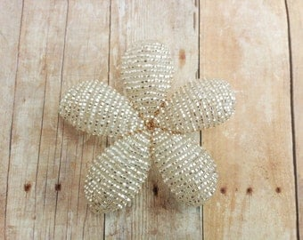 INVENTORY CLEARANCE - Crushed Ice - Flower Hair Clip or Brooch - Ododo Originals Ready to Ship