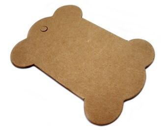 Set of 10pcs 7.9x10.2cm (Blank) cardboard bobbins (S46)