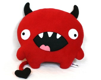 Love Devil valentine sewing pattern plush toy PDF