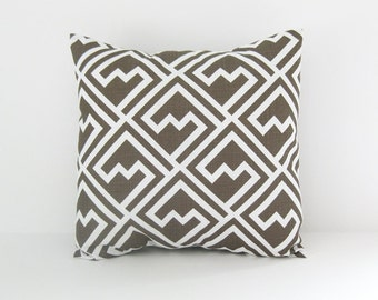 Brown Pillow Cover Couch Pillow Decorative Pillow Size Choices Accent Pillow