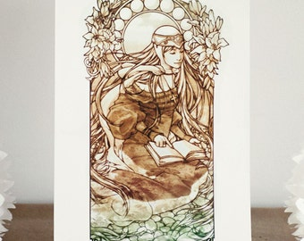 The Seer - Tarot - Art Print 8 x 11