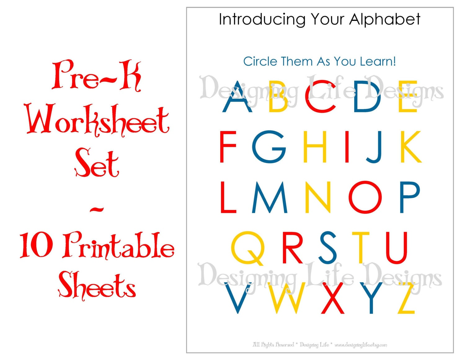 Homeschool Worksheets 10 Printable Pages for Pre-K to