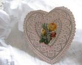 Gorgeous Vintage Valentine Circa 1880 Roses
