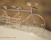 Tandem Bike Cake Topper IN TANDEM Wedding