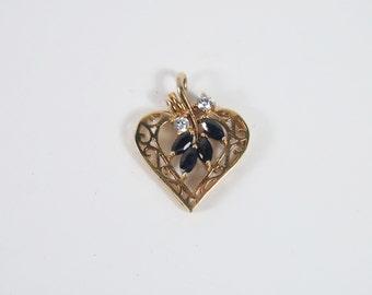 Heart Shaped 80s Pendant Vintage Jewelry