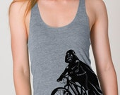 Darth Vader is Riding It - Mama tank top, Womens Tank Top  ( Star Wars Darth Vader bike womens tank top )