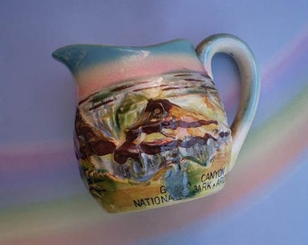 Vintage 40s Grand Canyon National Park Souvenir Pitcher