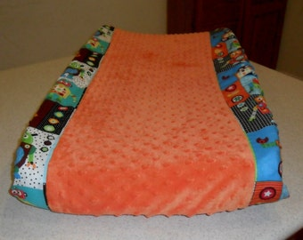 Robot and Minky Dot Changing Pad Cover CHOICE OF MINKY