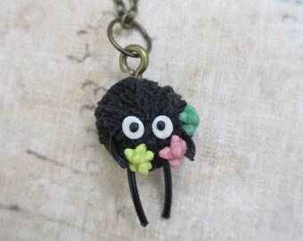 Soot Sprite - Miyazaki inspired necklace