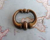SALE! Large vintage open brass metal chunky pull handle