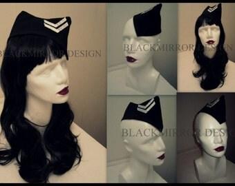 Black  military hat garrison hat