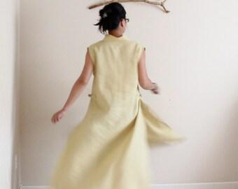custom eco linen ao dai robe