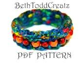 Crochet Bangle Bracelet PDF pattern by BethToddCreatz Patterns on Etsy