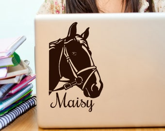 Custom Horse Name vinyl decal for Pet Owners, Ipad, macbook, Laptop decals, Car window stickers