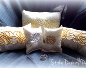 Discontinued!! SALE! Celtic Heart Knot Ring Pillow - Celtic Wedding Collection