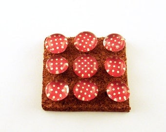 Decorative Push Pins Red Cork Board Pins  Funky Push Pins in Lady Bug (P93)