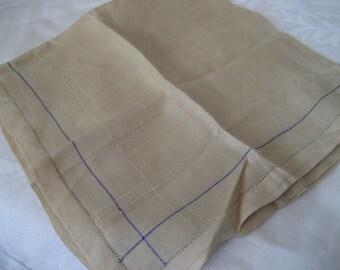 Mens VINTAGE Tan Silk Handkerchief