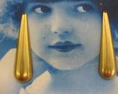 Natural Raw Brass Large Long Tear Drops 2263RAW  x2
