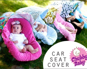 Design Your Own, Infant CarSeat Cover, You Send the Fabric,  comes REVERSIBLE