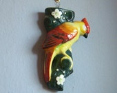Vintage  Hand Painted Made in Japan Bird Wall Pocket