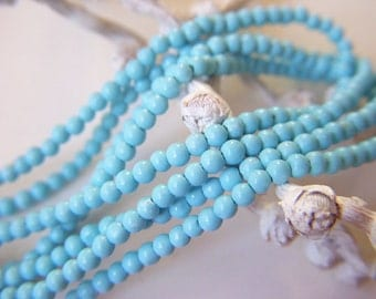 RESERVED - Sleeping Beauty Turquoise Rounds - Full Strand - 2mm - 14 Inches