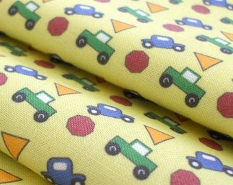 "Dollhouse Miniature Fabric - Cars and Trucks 8"" x 8"" - 1/12th Scale"