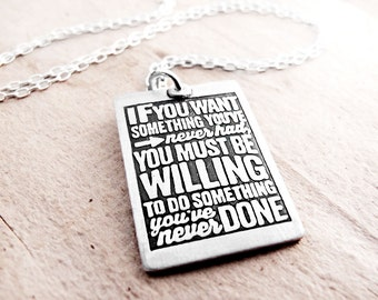 Graduation jewerly, Inspirational quote necklace, Thomas Jefferson, Motivational quote jewelry, Eco friendly reclaimed silver