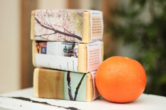 Palm Free Soap // 3 BIG bars, natural cold process CP soap, essential oil soap, real soap, artisan soap, lavender soap