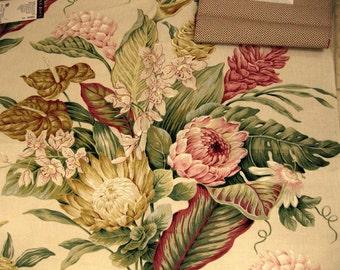 Maia Lee Jofa Floral Peony Bird Paradise Designer Fabric Sample