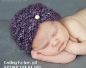 Purl Ridge Baby Turban Hat Knitting Pattern PDF 118, INSTANT DOWNLOAD -- Permission to sell hats --  Over 16,000 patterns sold -- Very Easy