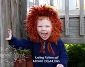 Chunky Bonnet and Lion Hat Knitting Pattern PDF 121, INSTANT DOWNLOAD -- Permission to sell hats --  Over 35,000 patterns sold -- Very Easy