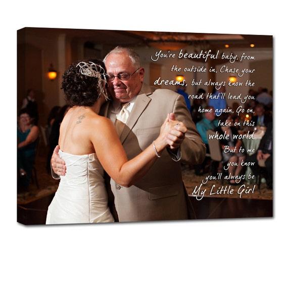 First Dance Father Daughter Wedding Photo Gift Art TEXT
