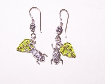 Sterling Silver HORNED TOAD Earrings - French Earwires - Totem, Wildlife, Reptile