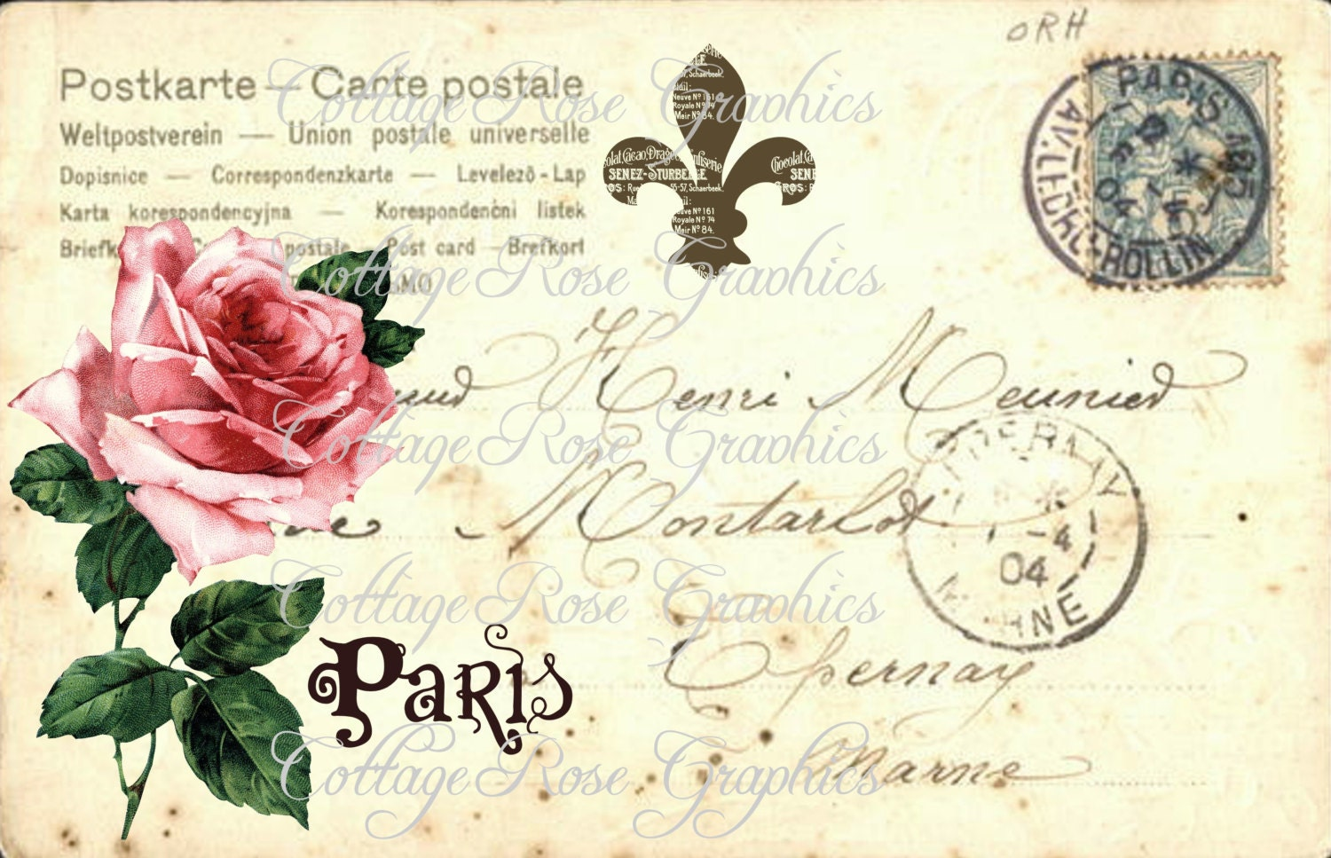 old letters french postcards - photo #16