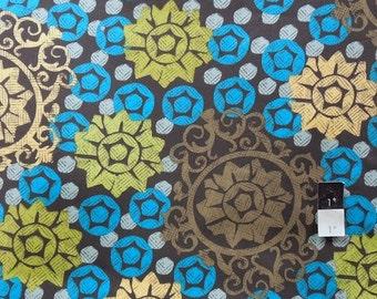 CLEARANCE Free Spirit Design Loft PWFS025 Chiffon Medallion Lime Cotton Fabric 1 Yard