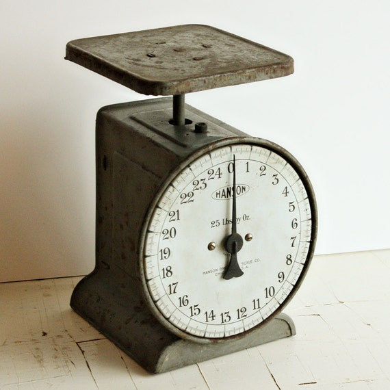 Vintage Kitchen Scales: Vintage Kitchen Scale Utility Scale Hanson 25 Lbs