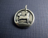motherland sterling silver wolf charm