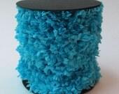 Handmade Crepe Fringe - Turquoise