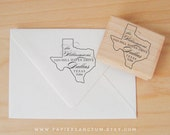 Custom Rubber Stamp - Texas State Address