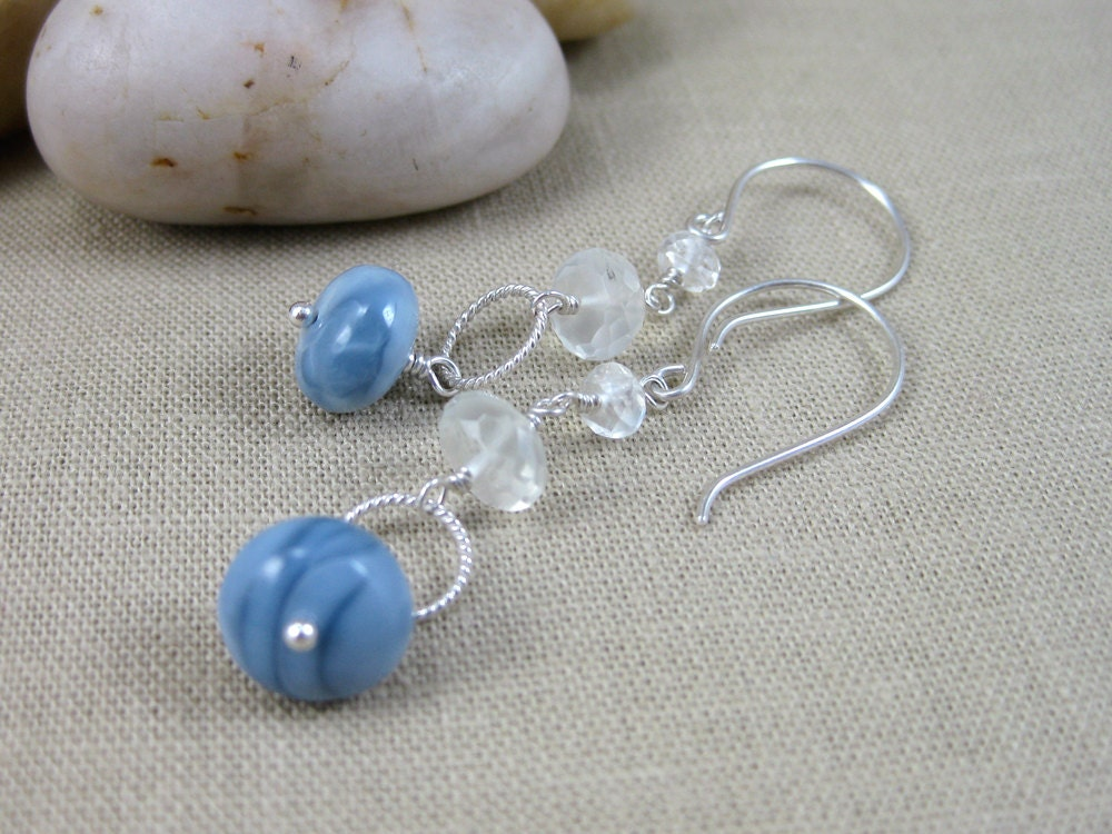 australian opal earrings moonstone dusk blue sterling