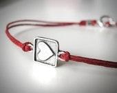 Sterling Heart Bracelet bracelet love bridesmaid gift anniversary bracelet graduation valentines ready to ship