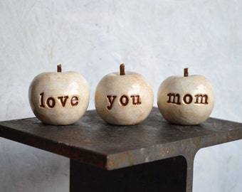 Gifts for mom / gift for her / 3 love you mom apples / gift for women / apples gift / gifts for mothers
