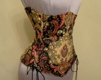 SCANDALOUS Steampunk Renaissance Under-Bust Corset - by LoriAnn Costume Designs - Custom Size