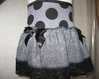 NEW Black,Grey Woven,spots,lace Mini Skirt,Punk,Retro,rock,Goth,Lolita Emo,sequoia,All sizes