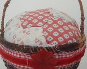 Vintage Quilt Pin Cushion Upcycled with Bakelite button
