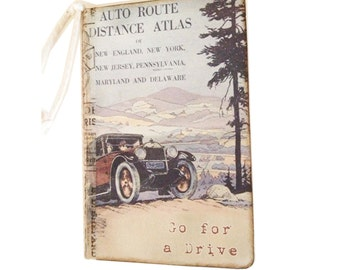 Journal, Travel Journal, Road Trip Diary, Jotter, Retro Road Trip Journal Mini Journal Retro Travel Journal Road Atlas 1930's Automobile