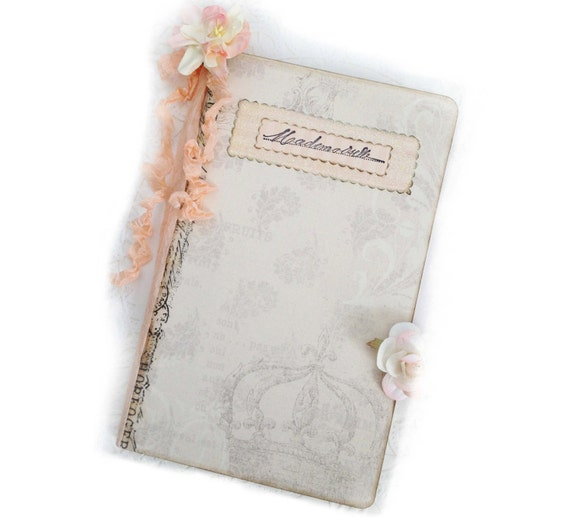 Parisian Mademoiselle Journal, Pale Pink Sparkles, Pale Pink Paris Journal